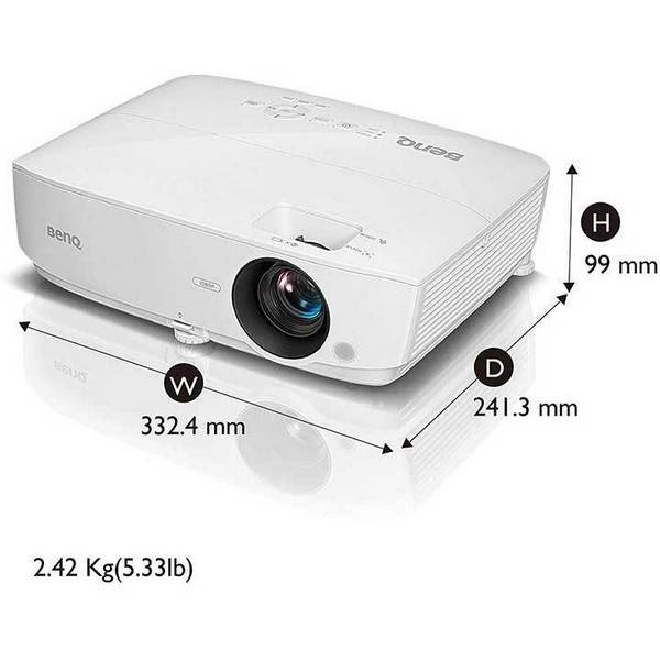 BenQ MH535A -1080P - 3600 Lumens HDMI Vibrant DLP Color Projector for Home and Office