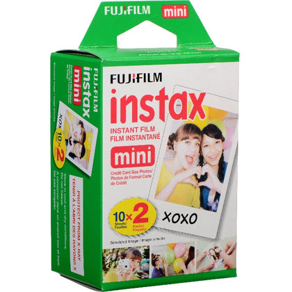 Fujifilm INSTAX Mini Instant Film Twin Pack (White) Twin Pack - 20 Sheets