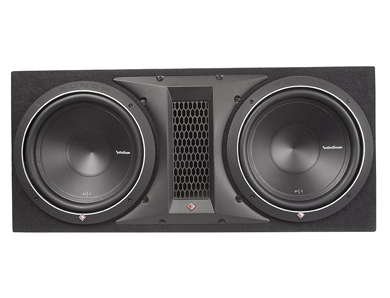 "Rockford Fosgate 12"" Single P1 Loaded Subwoofer Enclosure - P1-2X12"