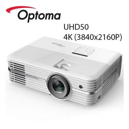 Optoma UHD50 True 4K Ultra High Definition DLP Home Theater Projector - Business & Education
