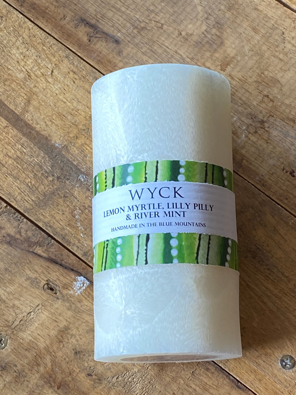 WYCK candle made in the Blue Mountains