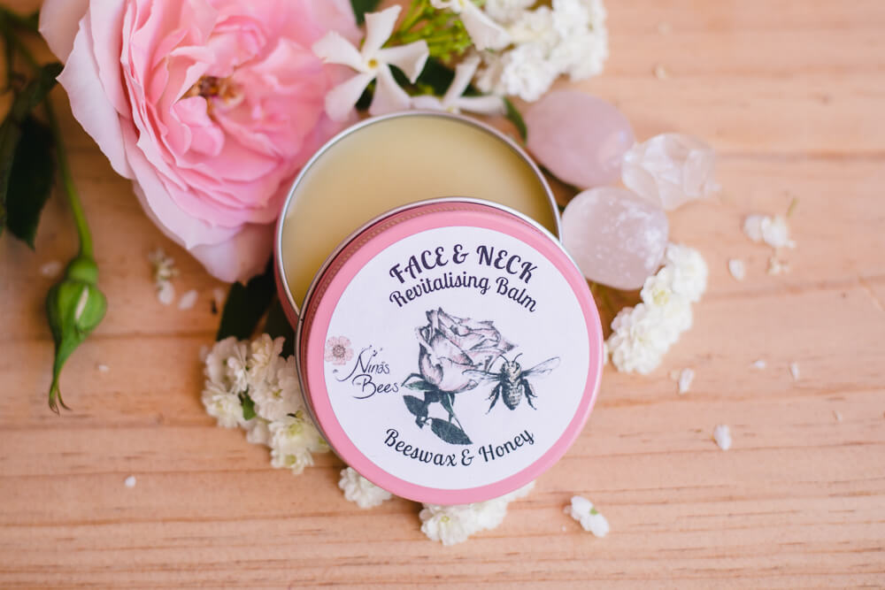 Nina's Bees Face and Neck Revitalising Balm with Beeswax and Honey