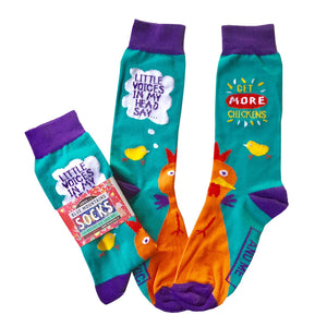'Little Voices' socks made in Australia by Blue Mountains Socks