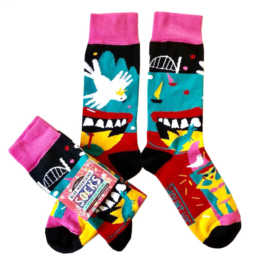 'Nostalgia' socks made by Blue Mountains Socks.