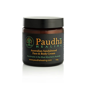 Paudha Healing Australian Sandalwood Face and Body Cream 100gm