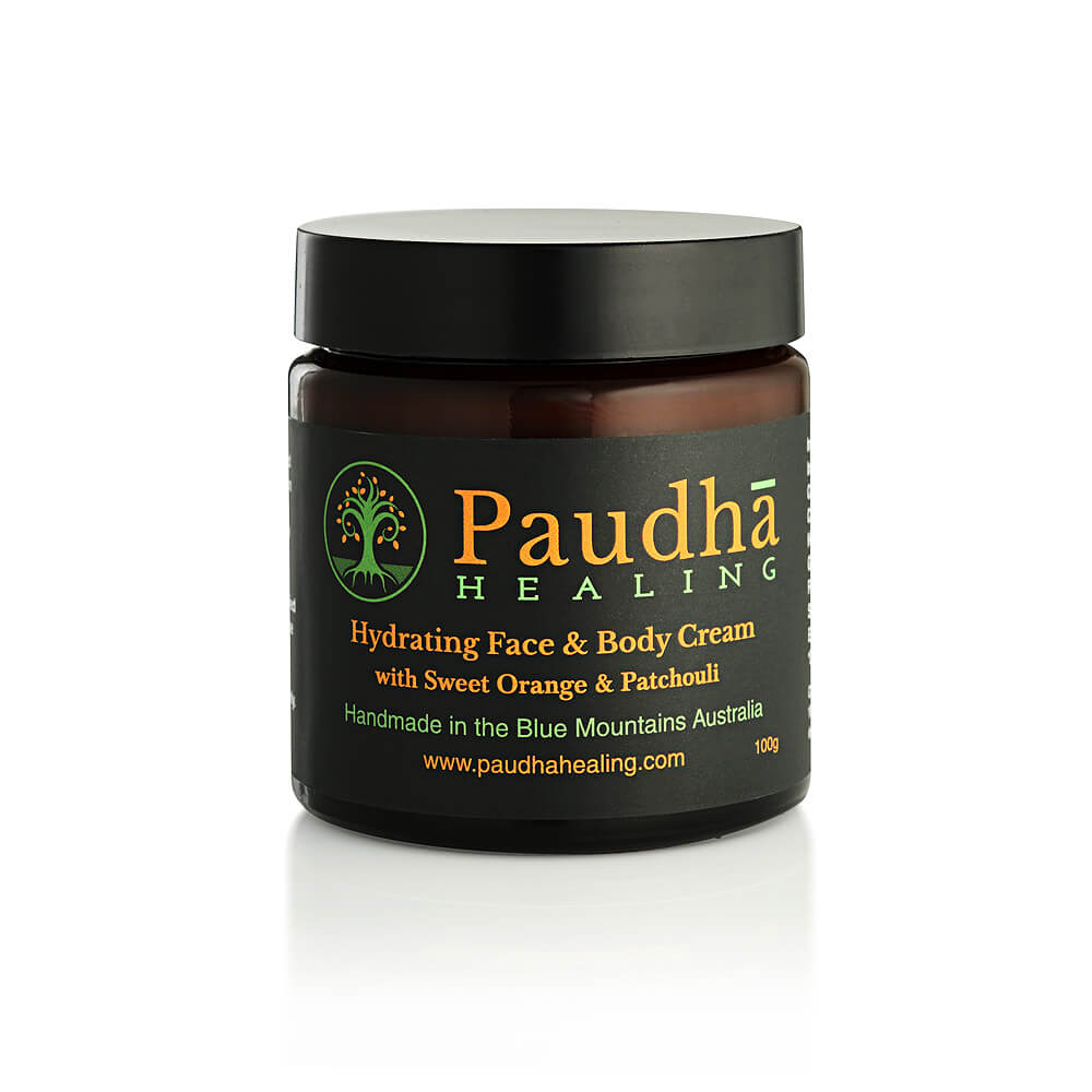 Paudha Healing Hydrating Face and Body Cream with Sweet Orange and Patchouli 100g