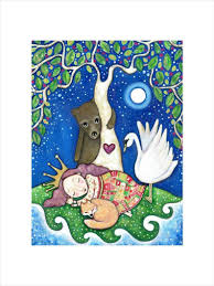 'Sleeping Beauty' A4 Archival print by Lindy Longhurst