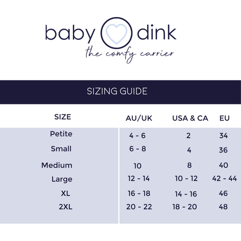 BabyDink Size Guide