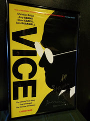 Signed by Adm McKay, Christian Bale, Amy Adams, Steve Carell & Sam Rockwell
