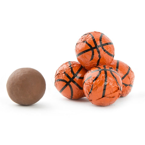 Milk Chocolate Foiled Basketballs