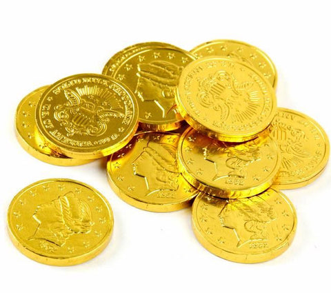 Milk Chocolate Foiled Gold Coins