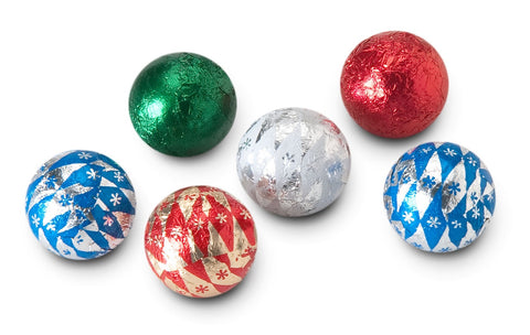 Milk Chocolate Foiled Ornaments