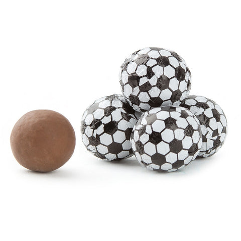 Milk Chocolate Foiled Soccer Balls