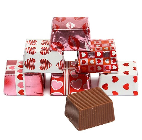 Milk Chocolate Foiled Valentine Presents