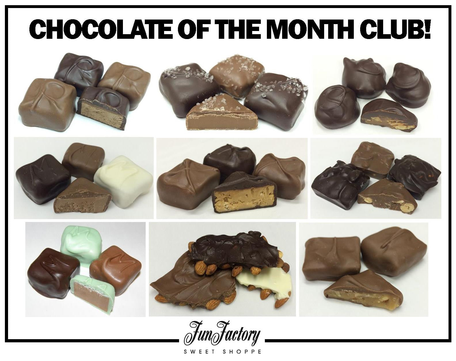 Chocolate Of The Month Club – Fun Factory Sweet Shoppe