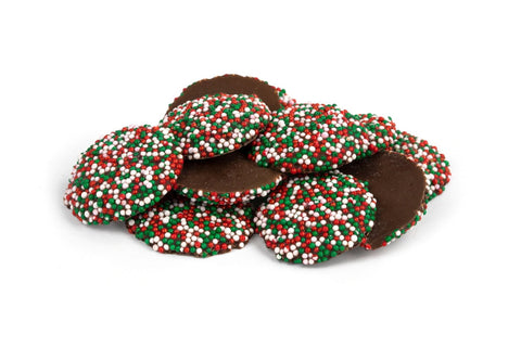 Christmas Nonpareils Dark Chocolate