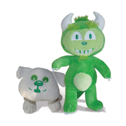 Happy The Hodag Plush Toys - HAPPY & BUDDY SET