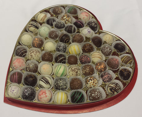 Chocolate Truffles Assortment - Valentine Heart Box