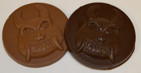 Solid Chocolate Hodag Medallions
