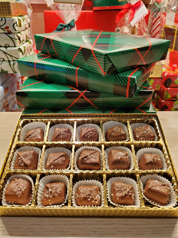 Wrapped Gift Box - Sea Salt Caramels