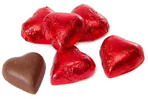 Milk Chocolate Foiled Hearts