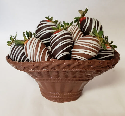 Edible Chocolate Basket - Strawberries