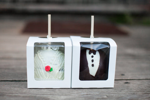 """Bride & Groom"" Wedding Caramel Apple"