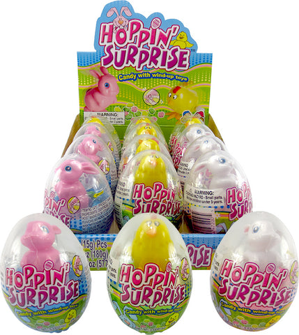 Hoppin Surprise Easter Egg w/Candy & Wind-Up Toy