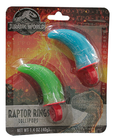 Jurassic World Raptor Ring Lollipops