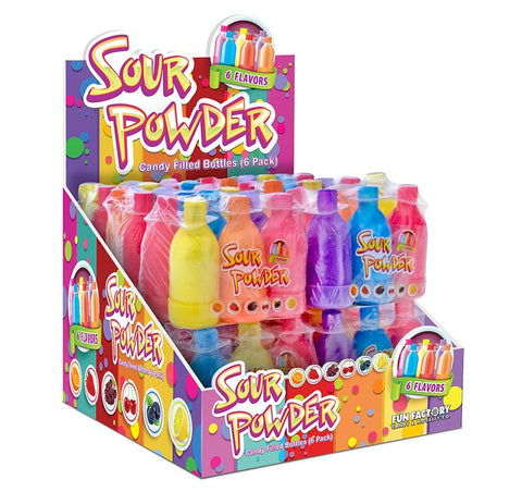 Sour Powder Candy Filled Bottles