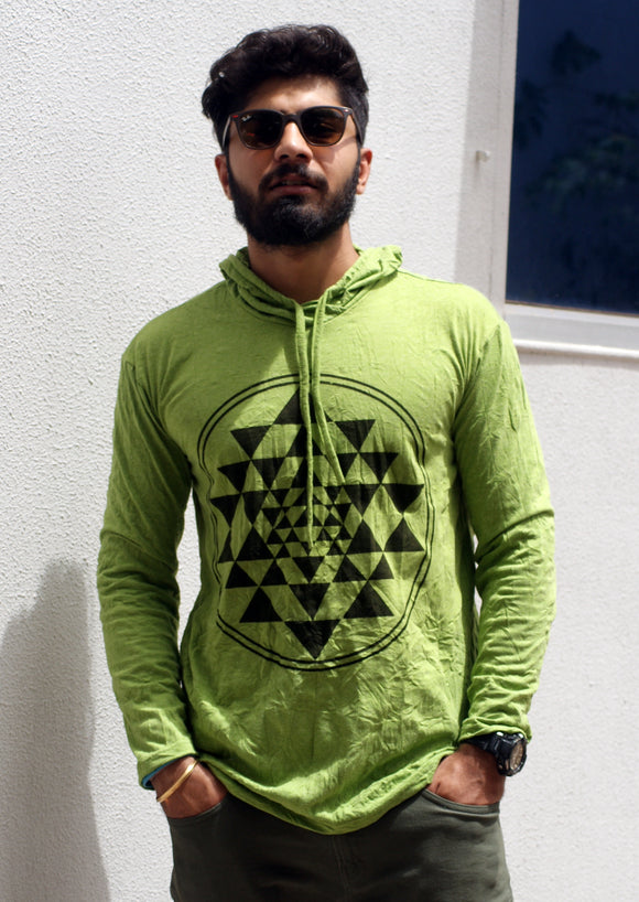 Shree yantra Long Sleeves Hoodie