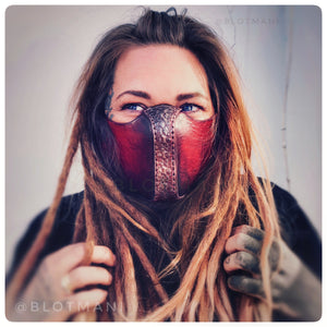 Leather face mask design 2 LAST ONE ~ FREE DHL EXPRESS SHIPPING