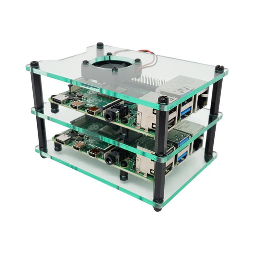 Cluster Case for Raspberry Pi (with Fans)