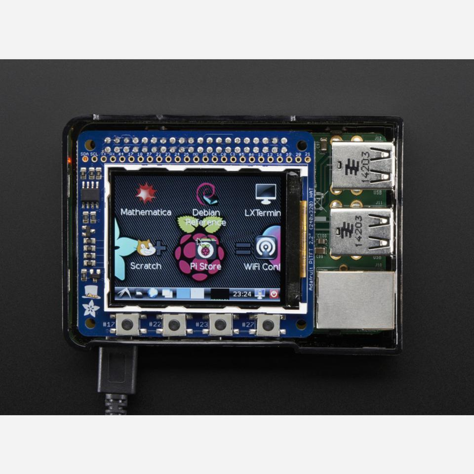 Adafruit PiTFT 2.2 HAT Mini Kit - 320x240 2.2 TFT - No Touch