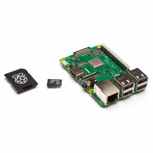 Raspberry Pi 3 Model B+ with included NOOBS 16Gb Sandisk micro SD card