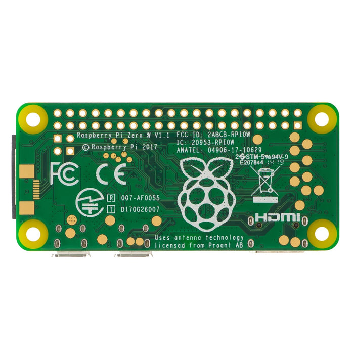Raspberry Pi Zero W with GPIO Reference Card