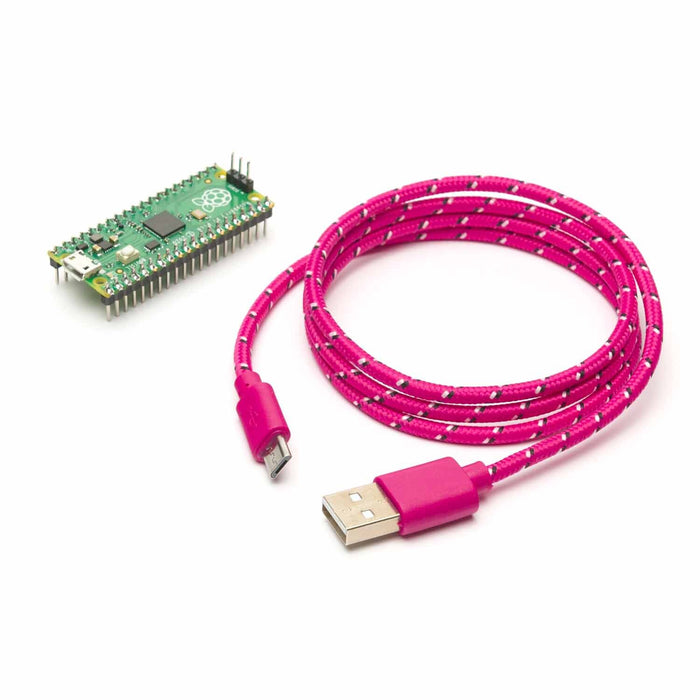 MicroUSB port on Raspberry Pi Pico (with headers & MicroUSB Cable) Australia