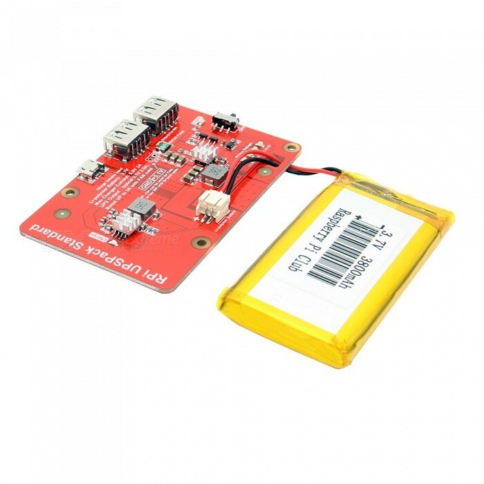 Raspberry Pi Battery Expansion Board with 3800mAh Lithium Battery