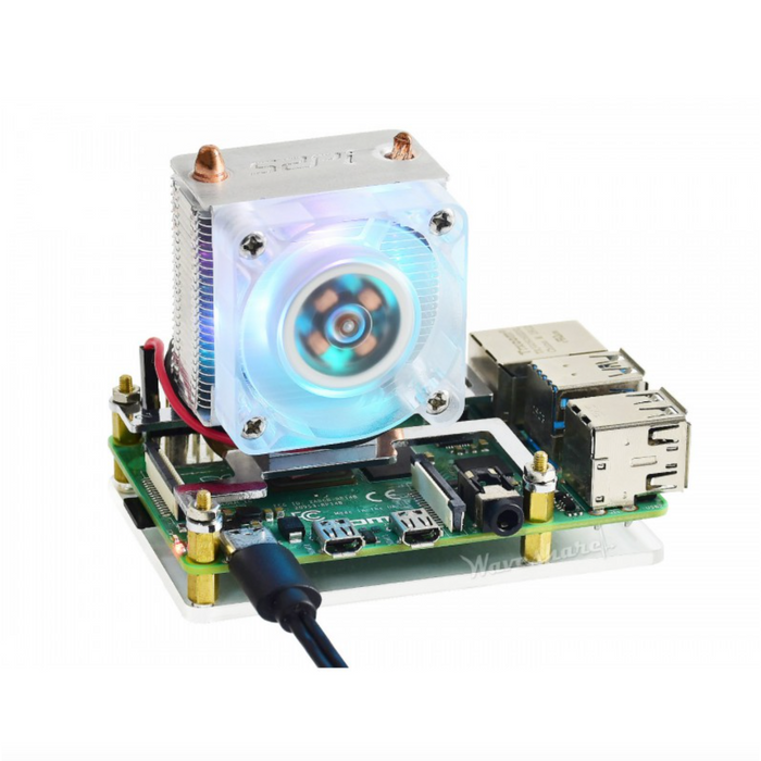 ICE Tower CPU Cooling Fan for Raspberry Pi 4 & 3, Super Heat Dissipation