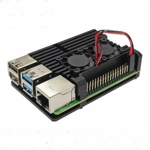 Armour Case with Dual Cooling Fan for Raspberry Pi 4