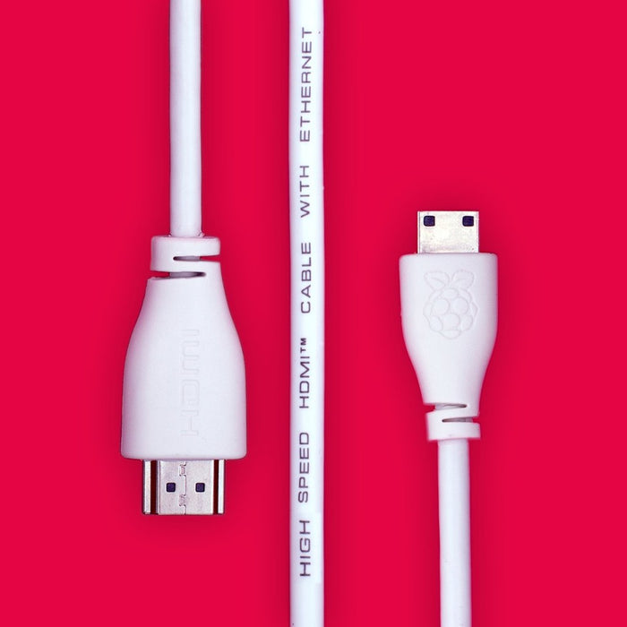 Mini HDMI to Std HMDI Cable, 1M, White