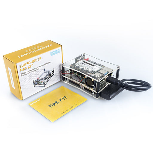 NAS Kit for Raspberry pi 4B/3B/3B+/2B/B+ with Dual fan