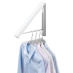 Interdesign Wall Mounted Clothes Hanging Rack - Perfect For Hanging Shirts To Dry or Store