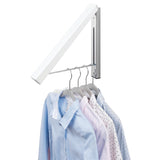 Interdesign Wall Mounted Clothes Hanging Rack - Perfect For Hanging Shirts To Dry or Store - b-organized