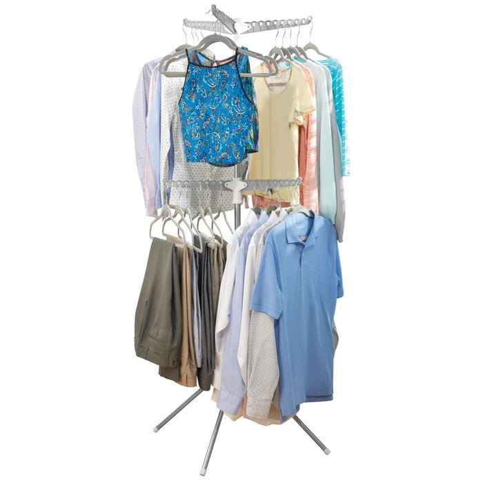 Interdesign Brezio Tripod Clothes Dryer 2 Tier - Allows More Drying Capacity In A Small Space - b-organized