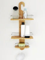 Butlers Alder Bamboo Shower Caddy - Free Up Space In Your Shower & Have All Your Essentials At Easy Reach - b-organized