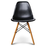 Artiss Set of 4 Retro Beech Wood Dining Chair - Black