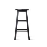 Artiss Set of 2 Beech Wood Backless Bar Stools - Black