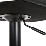 Artiss Set of 2 PU Leather Gas Lift Bar Stools - Black - b-organized