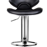 Artiss 2x Bar Stools DINO Kitchen Swivel Bar Stool Leather Gas Lift Chairs Black - b-organized
